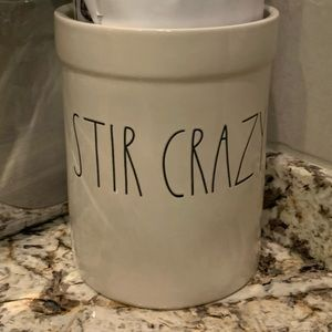 Rae Dunn Stir Crazy tool caddy NWT
